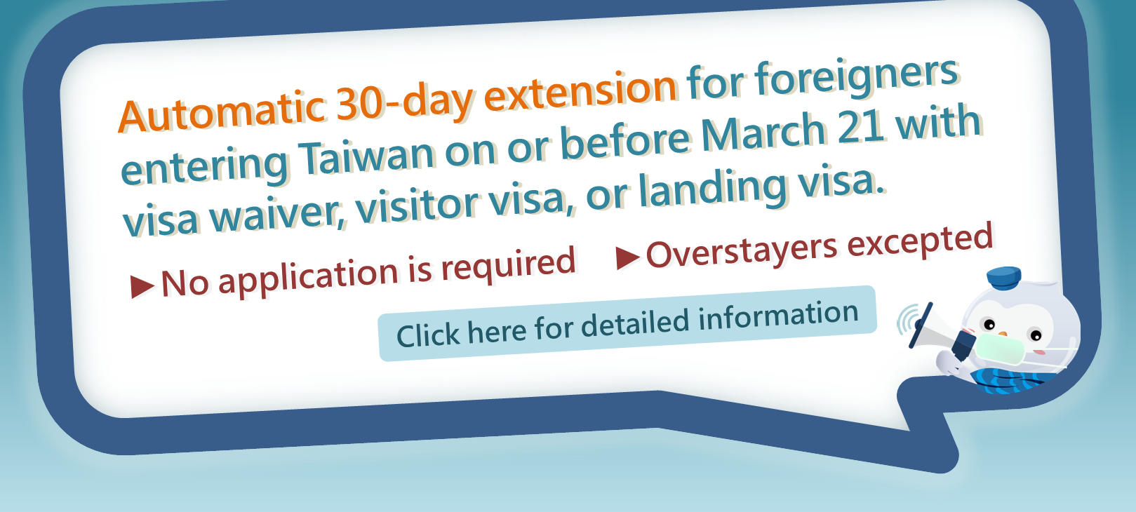 Automatic 30-day visa extension