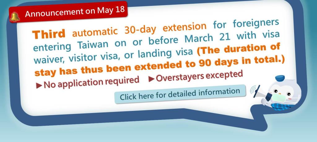 Third automatic 30-day visa extension