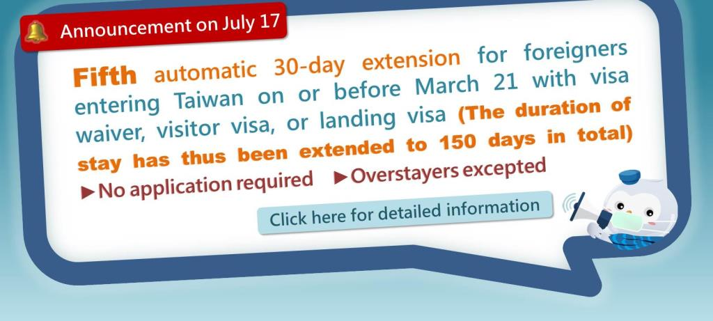 Fifth automatic 30-day visa extension